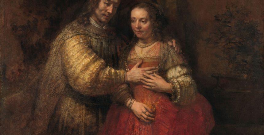 Isaac and Rebecca, Known as 'The Jewish Bride', Rembrandt van Rijn, c. 1665 - c. 1669